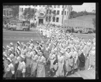 Red Cross Nurse's Aide corp volunteers, Los Angeles, 1942
