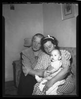 Bernice Brown, Ethel Moon, and Bobby Trader, Van Nuys, 1946
