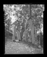 Russell Wallin, Henry Coil Jr., and Leif Rikhof, Mt. Rubidoux, Riverside, 1946