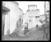 Oviatt Building penthouse patio, Los Angeles, 1930