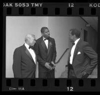 "John W. Mack, Earvin ""Magic"" Johnson, and Sidney Poitier, Century Plaza, Century City, 1989"