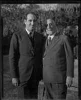 Enrique Carlos de la Casa and Gregorio del Amo, Spanish consuls, Los Angeles, 1936