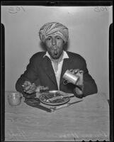 Prince Ucon ingests various metalworks, Lincoln Heights, 1936
