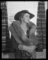 Alice Pedersen Orcutt at a luncheon sponsored by the Civic Beautification Committee, Van Nuys, 1936