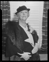 Mary Logan Orcutt at a luncheon sponosred by the Civic Beautification Committee, Van Nuys, 1936