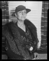 Queen Walker Boardman at a luncheon sponsored by the Civic Beautification Committee, Van Nuys, 1936
