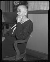 Justine Whitney faces a conviction for embezzlement, Santa Ana, 1936