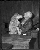 Owner V. C. Condron during trial for the theft of his dog Juneau, California, 1936