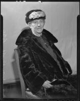 Musical impresario Norma Knupfel Lutge, Los Angeles, 1936