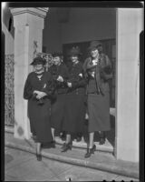Helen M. Van Dyke, Sheda Kline, Ysabel Marquard, and Edith Chapple of the Volunteers in Social Service, Los Angeles, 1935
