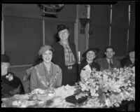 Women's Breakfast Club Mrs. Donald Jennings, Mab Copland Lineman, and Viola Dinsmore, Los Angeles, 1936