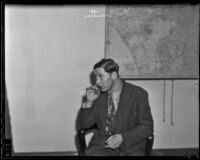 William Smetter, defendant in racketeering case, Los Angeles, 1936