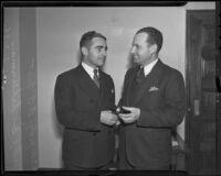 Judge A. A. Scott succeeds Judge Ben Scheinman in Municipal Court, Los Angeles, 1936