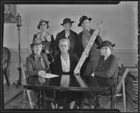 Nurses Anna C. Jamme, Nellie M. Porter, Helen Halvorsen, Lois Burnett, Elizabeth Rohrbach, Agnes Talcott, Los Angeles, 1936