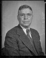 Head shot of Julian E. Itter, past-president of the Mining Association of the Southwest, San Bernardino, 1936