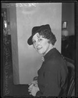 Bernice von der Senden, Los Angeles, 1936