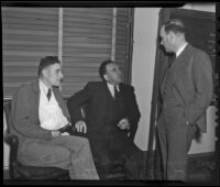 Witnesses Joseph Fritsch and F. J. Mountain testify against Frank Forrest Smith, El Monte, 1936
