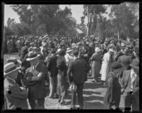 Crowd at the Iowa Picnic in Lincoln Park, Los Angeles, 1936