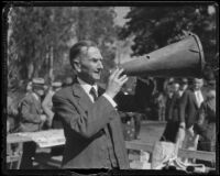 F. H. True at the Iowa Association of Southern California annual picnic at Lincoln Park, Los Angeles, 1936