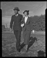 Mr. and Mrs. Paul F. Gardner on vacation, Palm Springs, 1936