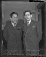 Mexican Consuls Alejandro Gómez Maganda and Ricardo Hill, Los Angeles, 1936