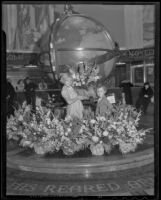 Aubrey Hemming and impromptu Miss Compton Evelyn Hurlburt, Compton, 1936