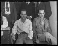 George and Albert Acree arrested for the kidnapping of James C. Gelvin, Los Angeles, 1936