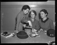 Lucille Stafford instructs night school students Mary Sato and Ann Smith, Los Angeles, 1936