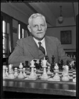 Chess and Checker Club manager E. P. Elliott, Los Angeles, 1936