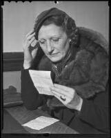 Former vaudeville actress Muriel Morris seeks divorce, Los Angeles, 1936
