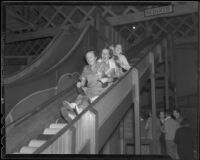 Group of young adults on a slide, Venice (Los Angeles), 1936