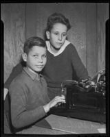 Dick Starbuck and Tom Werner, seventh-graders who wrote a history of their town, Fullerton, 1936
