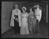 Mr. Stewart, Mrs. Robinson, Annis Schweppe, and Richard Schweppe at a dance at the Biltmore, Los Angeles, 1936