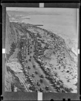 Coastline along the Roosevelt Highway, Los Angeles, 1936