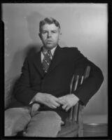Murder suspect Fred Stettler, Los Angeles, 1936