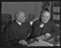 William Allen White visits Judge Ben Lindsey, Los Angeles, 1936
