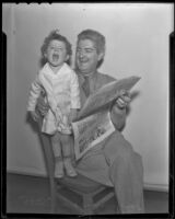 Radio man Doug Douglas and his youngest son Static, Los Angeles, 1936