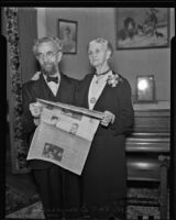Mr. and Mrs. S. W. Van Dompselaar celebrate their 63rd anniversary, Los Angeles, 1936