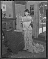 Shirley Atkins appreciates antiques sponsored by the Eagle Rock Parent-Teacher Association, Eagle Rock, 1936