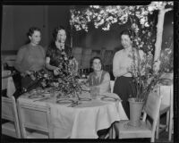 Friday Morning Club Juniors members arrange flowers, 1936