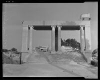 Entrance to school on 61st and Figueroa Street before being demolished, Los Angeles, 1936