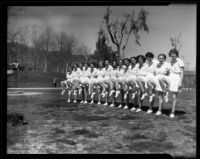 Women in a row at Griffith Park Playground, Los Angeles, 1936
