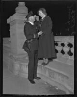 Joseph Willis and Ethel McVey on the night of their wedding, Pasadena, 1935