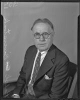 Ralph Baverstock, President of the Mining Association of the Southwest, Los Angeles, 1935