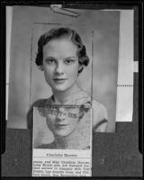 Pomona College choir singer Charlotte Hanson, Claremont, 1935