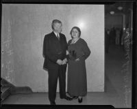 German newlyeds Elfriede and Gustave Hufersen marry after 50 years apart, Los Angeles, 1935