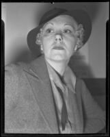 Betty Healy to go to court as defendant, Los Angeles, 1935