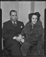 Michael Cudahy and his wife Jacklyn Cudahy, Los Angeles, 1935