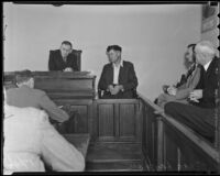 "Charles ""Chas"" Layman on trial for murder of six W.P.A. workers, Los Angeles, 1935"
