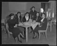 Carthay Circle Women's Club members around a table, 1935